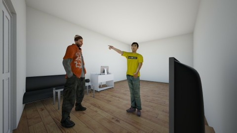 get out of my house - Living room - by toad2housebuilder