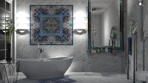 Blue glass - Bathroom - by milyca8