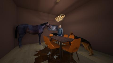 Little brother choose - Dining room - by Boss Cat Number 1