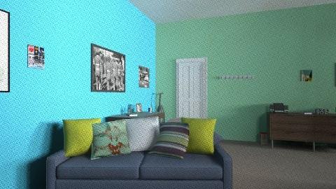 guys dorm - Masculine - Bedroom - by xcgirl