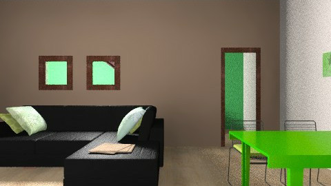 basic green living room - Minimal - Living room - by LM333
