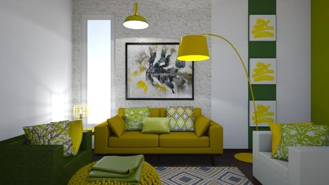 Green and Yellow - Modern - Living room - by XiraFizade