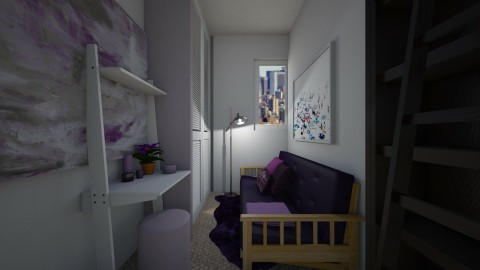 Small Purple Bedroom - by CatLover0110