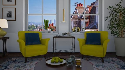 Yellow chairs - Living room - by Tuitsi