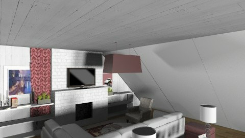 White and purple attic - Minimal - Living room - by annanani