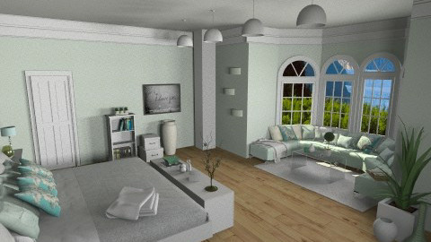 accent on mint - Glamour - Bedroom - by zarky