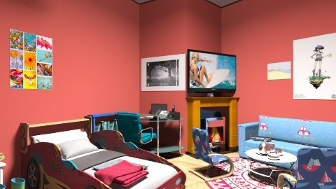 boys bedroom - Bedroom - by bora jegeni