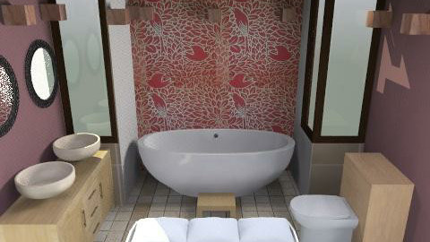 Red Bathroom - Bathroom - by vina sian