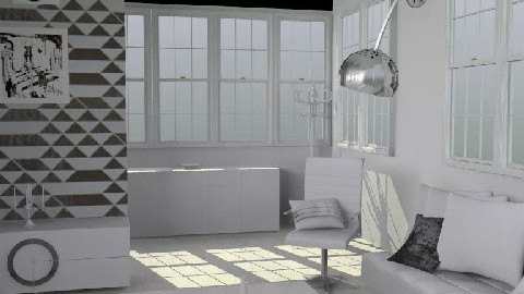 White lounge1 - Living room - by Caroline Lily