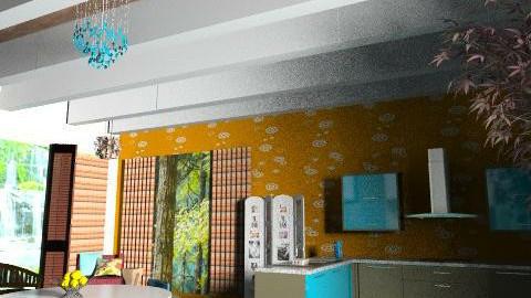 brooklyns house1 - Retro - Kitchen - by kadee1111