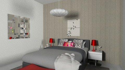 red and black - Eclectic - Bedroom - by annyvgv