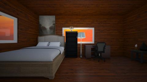 The Wooden Bedroom - by PeterT441