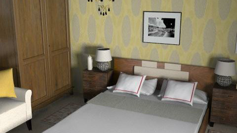 playing with my room2_1950sLS - Retro - Bedroom - by Veeveenatyisy