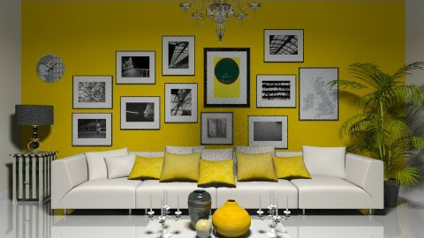 Black and Yellow - Minimal - Living room - by deleted_1566988695_Saharasaraharas