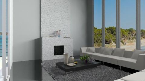 Blacknwhite - Living room - by Bekarr