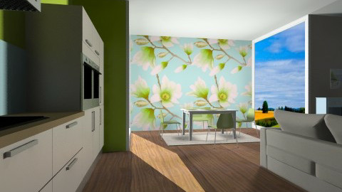 Blue - Country - Living room - by vydrovamisulka1