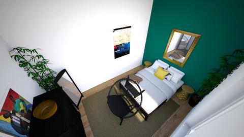 Grown woman jade wall - Modern - Bedroom - by theresjoyhere