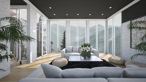 Dark ceiling - Living room - by Ivana J
