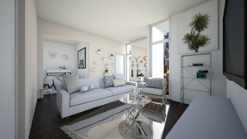 High Rise Apartment Pt 3 - Living room - by CatLover0110