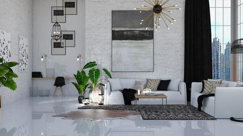modern - Modern - Living room - by NEVERQUITDESIGNIT