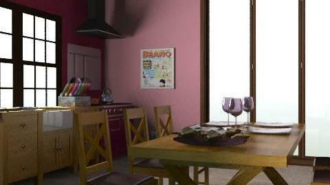 Konyha+étk+hallway - Retro - Kitchen - by vanette