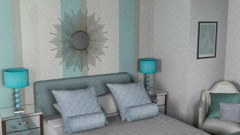 The Grey Room - Glamour - Bedroom - by FranklyDear