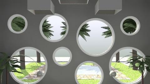 Chilin' Green 1 - Retro - Living room - by juhaszrena