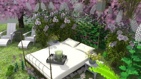 coolio room - Glamour - Garden - by Anna Pinnock