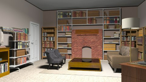 Books room - Classic - Living room - by tamyres