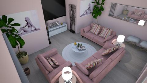 Pink Velvet Vibes - Living room - by Eboni Bell