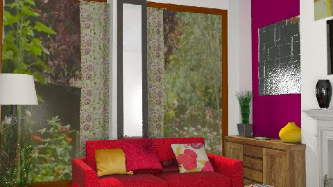 RR17_5 - Cosy Retro Rouge - Retro - Living room - by Interiors by Elaine