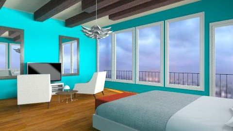 SkyLine - Modern - Bedroom - by aubriella