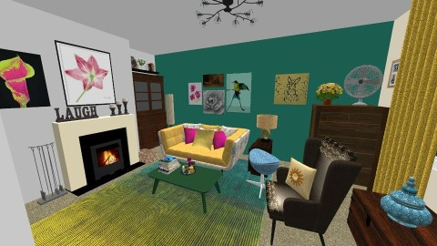 Cozy on up - Retro - Living room - by DeeTom