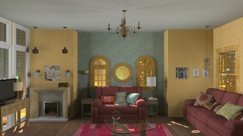 20 year bachelor - Vintage - Living room - by polar4445