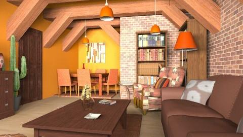 orangeorangeorange - Vintage - Living room - by mirkaaa