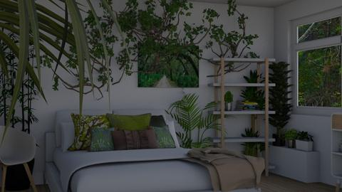 Urban Jungle - Modern - Bedroom - by RaeCam