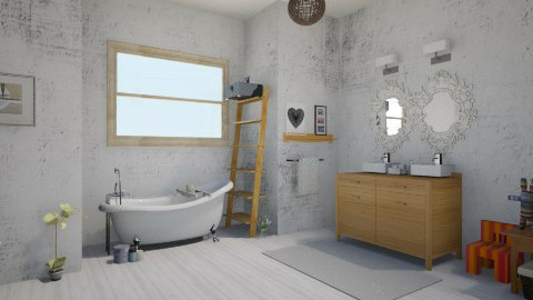white - Modern - Bathroom - by Melza