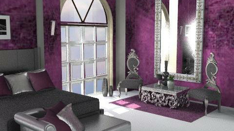 silver purple  - Glamour - Bedroom - by Cejovic Andrijana