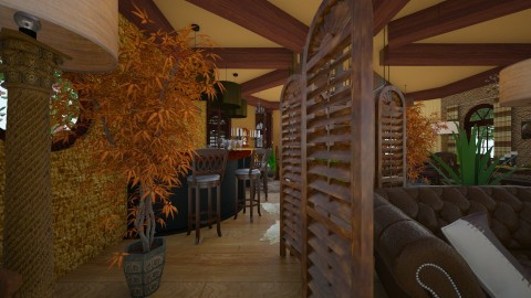 Wood  - Rustic - Living room - by ZsuzsannaCs