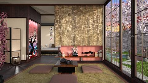 Japanese Art Home - Minimal - Living room - by Mandine