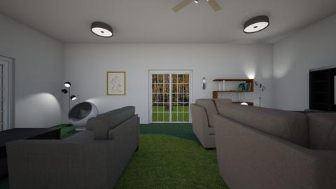 Underground Home - Living room - by WestVirginiaRebel