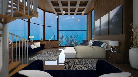 underwater bedroom - Bedroom - by Senia N