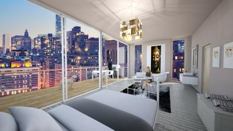 New York Bedroom - Bedroom - by HanneLenaerts