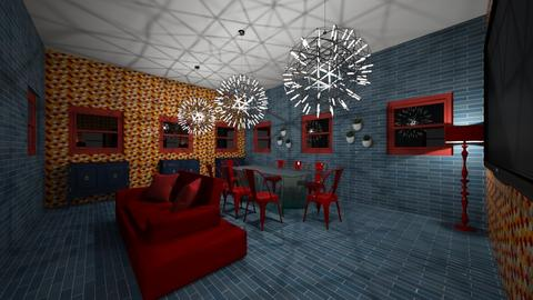 RED AND BLUE COZZY - Classic - Dining room - by zaryah