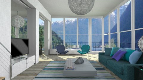 Near the fjord - Modern - Living room - by liling