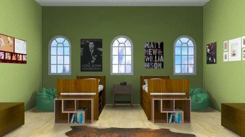 Boys Cabin Bedroom - Masculine - Bedroom - by yankees2