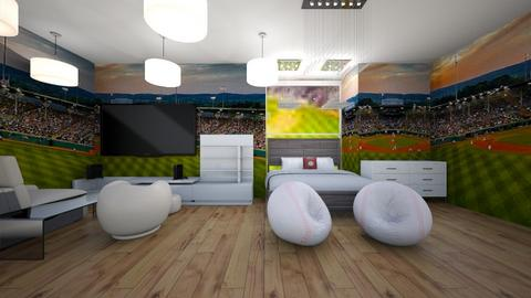 Baseball 1 - Modern - Bedroom - by C J McQuade