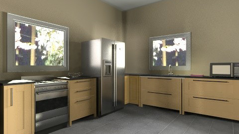That plain motarded house - Modern - Kitchen - by so_lejit135