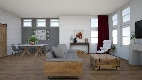 Modern Farmhouse - Living room - by arosytoes