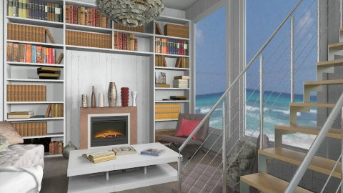 Seaside Library - Living room - by rampage